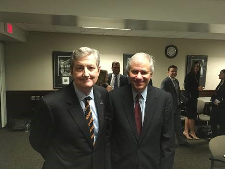 Sen. Kennedy with FDIC Chairman Martin Gruenberg